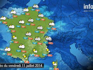 Prévisions météo (France) du vendredi 11 juillet