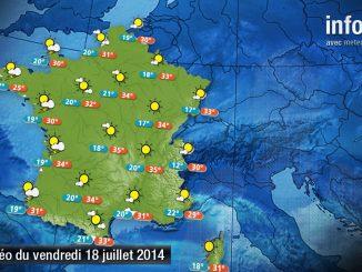 Prévisions météo (France) du vendredi 18 juillet