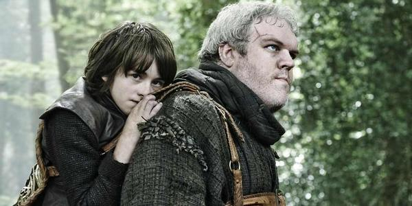Hodor et Bran Stark dans la série TV Game Of Thrones
