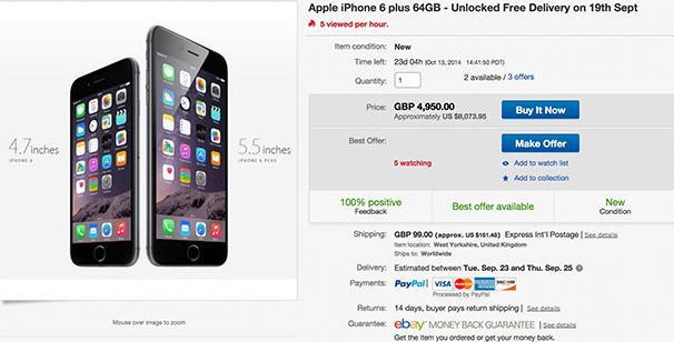 L'iPhone 6 sur eBay