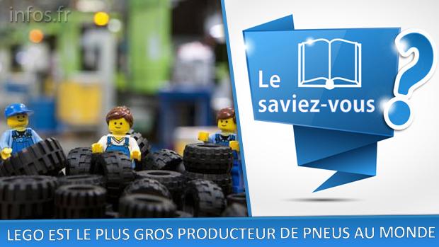 LEGO est le plus gros producteur de pneus au monde