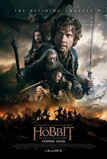 L'affiche officielle du film The Hobbit  : la bataille des cinq armées