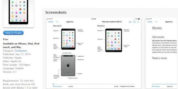 Le guide de l'utilisateur de l'iPad Air 2 et du Mini Retina 3 révélé par erreur