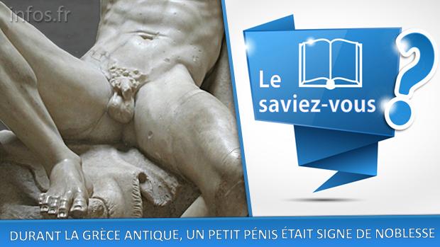 Durant la Grèce Antique, un petit pénis était signe de noblesse