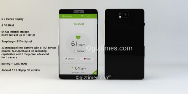 Le concept de Samsung Galaxy Note 5