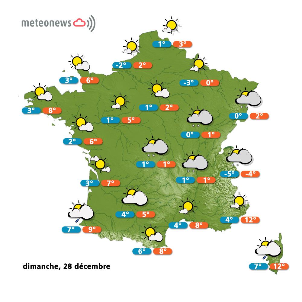 carte meteo france 28 decembre 2014