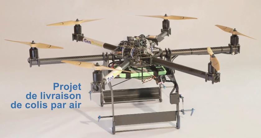 Le drone de GeoPoste pour les livraison de La Poste
