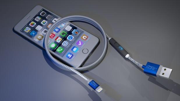 La câble SONICable permettant une recharge rapide des smartphones
