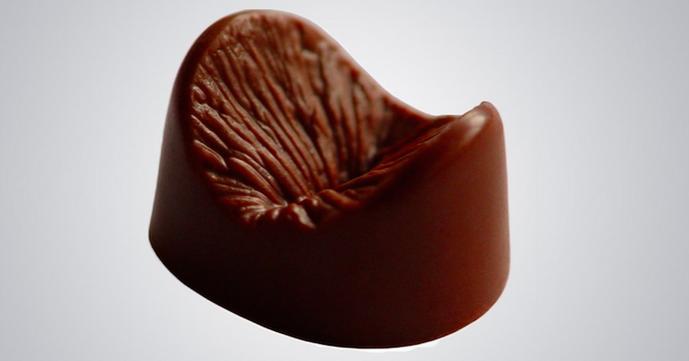 Chocolat en forme d'anus