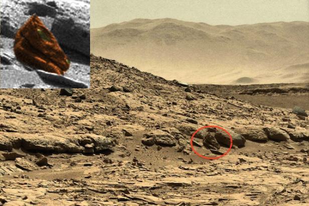 "La ""tête de dragon"" sur la planète Mars"