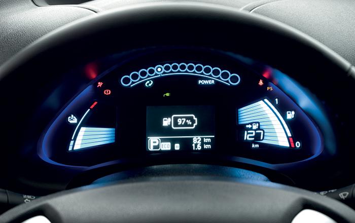 Nissan Leaf, tableau de bord - Crédits : nissan.fr