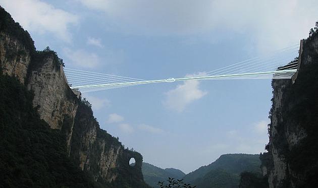 Le pont Zhangjiajie