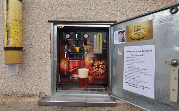 Le distributeur de bières fraîches, le biéromat