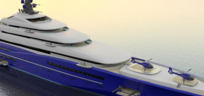 """Le """"Gigayacht"""", un bateau à 770 millions de dollars"""