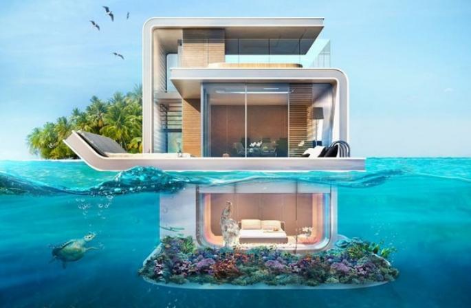 La villa flottante de Dubaï