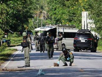 Attaque contre la police en Thaïlande