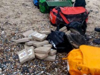 cocaïne trouvés sur une plage