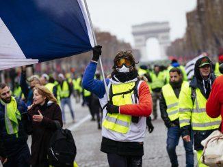 Les gilets jaunes à Paris