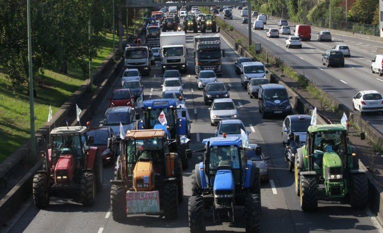 manifestation des agriculteurs français à Paris