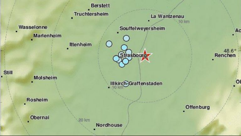 Tremblement à Strasbourg