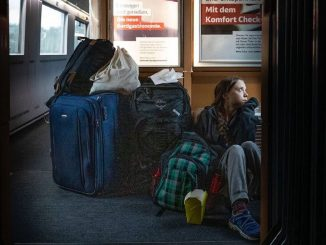 Greta Thunberg en train