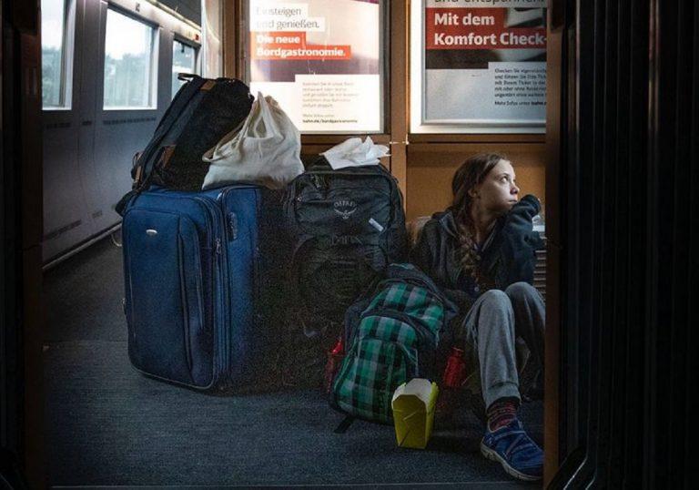 Greta Thunberg en train
