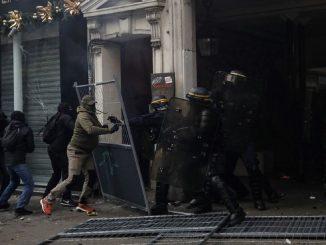 Grève générale affrontements à Paris