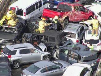 Maxi collision en Virginie