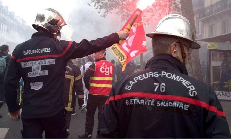 pompiers cause greve
