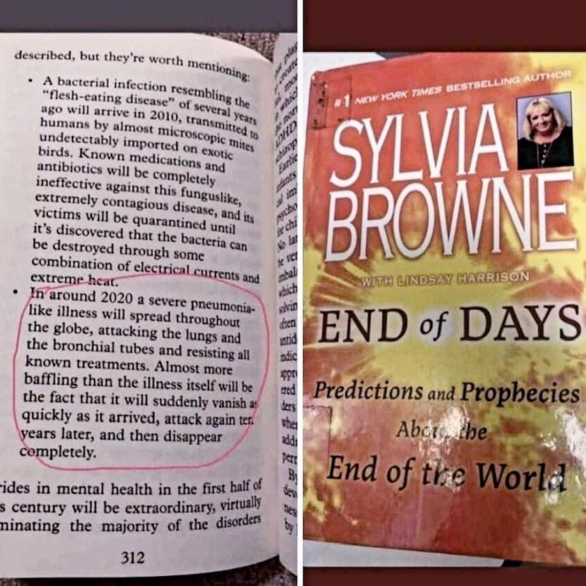 coronavirus prophétie sylvia brown