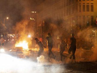 Manifestants à Bayrouth