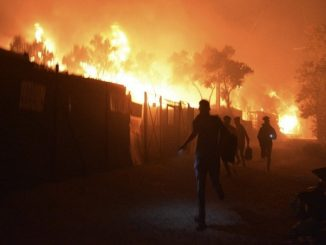 incendie camp migrants