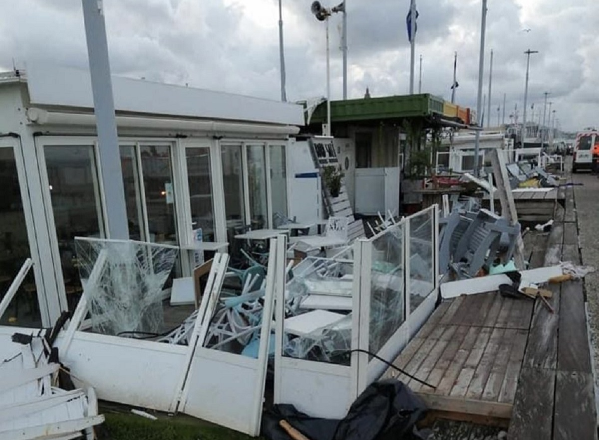 Le Havre : mini-tornade et gros coups de vent