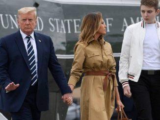 Barron Trump testé positif au covid-19