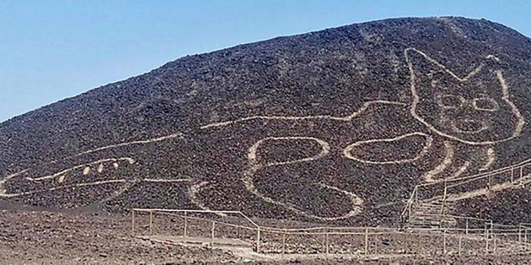 Un géoglyphe de chat découvert au Pérou dans le désert de Nazca