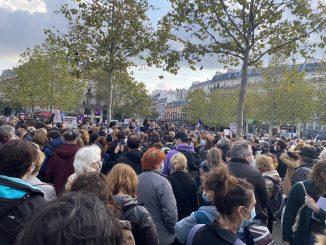 Hommage à Samuel Paty à Paris