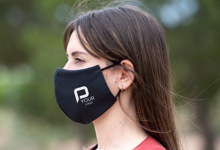 masques personnalisés avec son logo