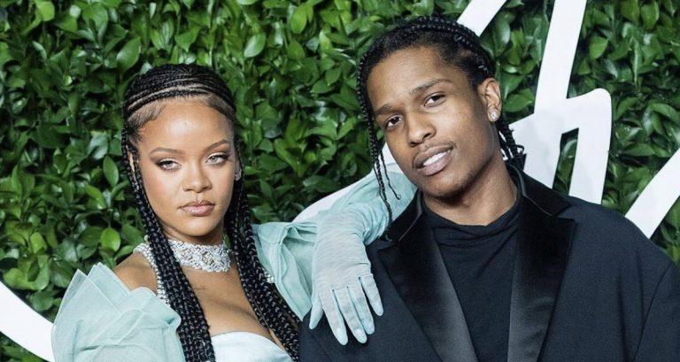 Rihanna couple A$AP Rocky.