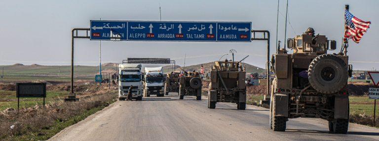Les chars sur la route d'Alep