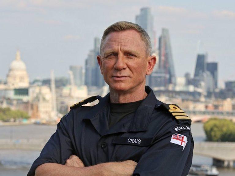 Daniel Craig nommé commandant de la Royal Navy pour son personnage de 007