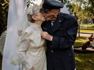 Mariés depuis 1944 mais n'ayant pas de photos de mariage : la maison de retraite organise un nouveau mariage