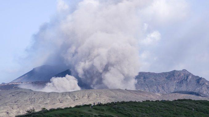 L'éruption du volcan Aso a commencé le 20 octobre