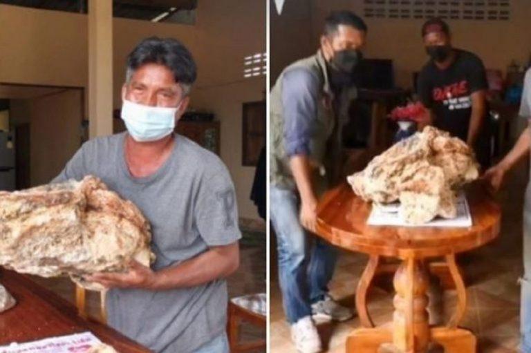 Un pêcheur trouve un bloc de vomi de baleine : une découverte d'un million de dollars