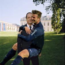 David Beckham et François Hollande