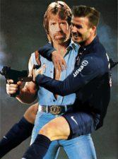 Beckham et Chuck Norris