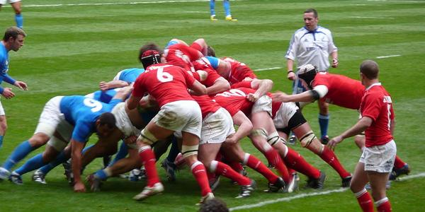 Mêlée de Rugby